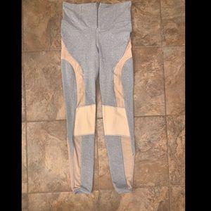 FP movement gray mesh zip up athletic leggings